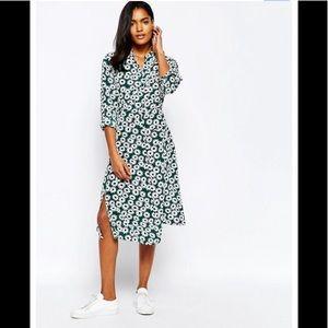 Whistles green daisy print dress